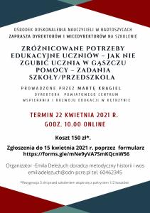 Ośrodek Doskonalenia Nauczycieli w Bartoszycach zaprasza nauczycieli historii, wiedzy o społeczeństwie i nie tylko na szkolenie (2).png